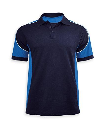 Alexandra Wolfram stc-tn010ro-m Herren Polo Shirt, Uni, Größe: M, Royal/Weiß/Navy