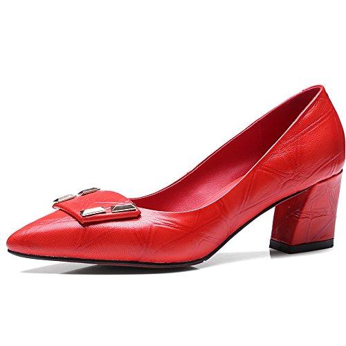 Nine SevenPump Shoes - Sandalias con cuña mujer Red