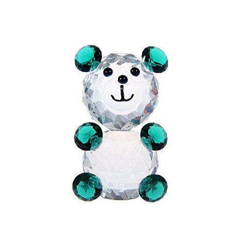 H&D Crystal Cute Baby Bear Figurines Collection Paperweight Animal Figurine for Kids Gift -