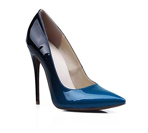 Dedo XIE Señaló del Boca Club del Zapatos gradiente la los Mujeres de los con el la del de Bajos de pie de 39 la Las Pintura Color GRADIENTCOLOR El 37 Gradient de Talón Nocturno Zapatos Alto Cuero Color Baja del aqw8ar