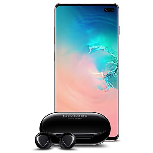 Samsung Galaxy S10+ Plus Factory Unlocked Phone with 1TB (U.S. Warranty), Ceramic White w/Galaxy Buds+ Plus