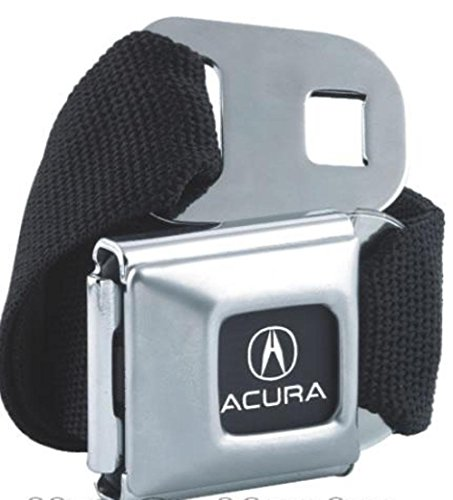 [American Made Acura Car Logo Seatbelt Belt Buckle Officially Licensed Authentic Original Collectible New Rare Seat Belt Style Belt Buckle with Black Canvas Webbing.] (Month Belt Buckle)