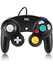 NC Game-cube Controller, Suitable for Wii Console and Nintendo Game Controller, Wired Controller Black Gamepad Joystick (Black 1 pcs Set)