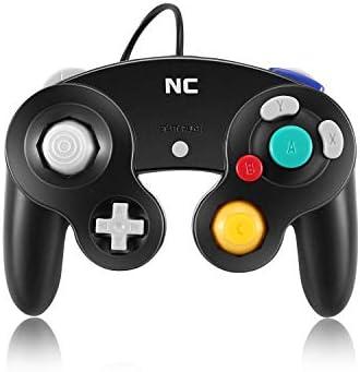 NC Gamecube Controller, adecuado para consola Wii y Nintendo Game Controller, driver con cable negro Gamepad Joystick., Juego de 1 pieza negro. 3