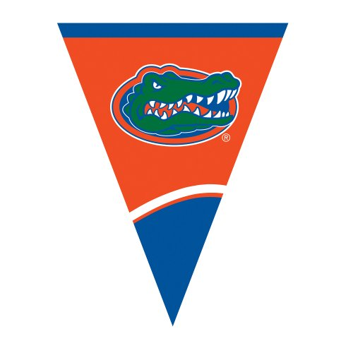 Creative Converting University of Florida Plastic Flag Banner, 10.5-Feet, Case of 12 by Creative Converting
