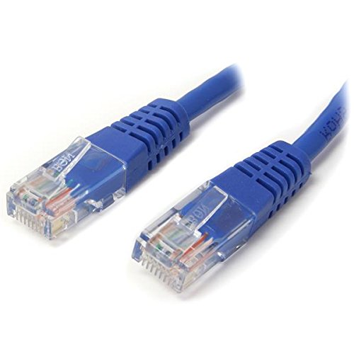 StarTech.com Cat5e Ethernet Cable - 3 ft - Blue - Patch Cable - Molded Cat5e Cable - Short Network Cable - Ethernet Cord - Cat 5e Cable - 3ft (M45PATCH3BL)