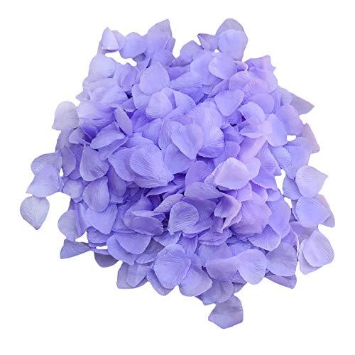 DALAMODA 1000pcs Silk Rose Petals Artificial Flower Wedding Party Aisle Decor Tabl Scatters Confett (Lavender) -