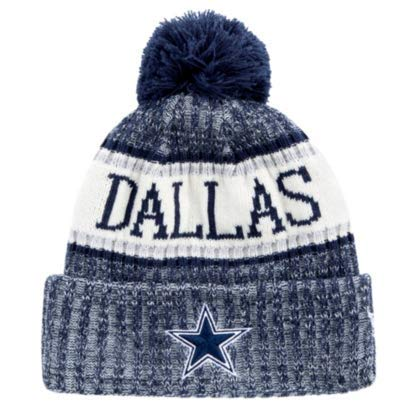 f8bea302 Dallas Cowboys NFL Men's New Era 18 Sideline Sport Knit, Navy, OSFM