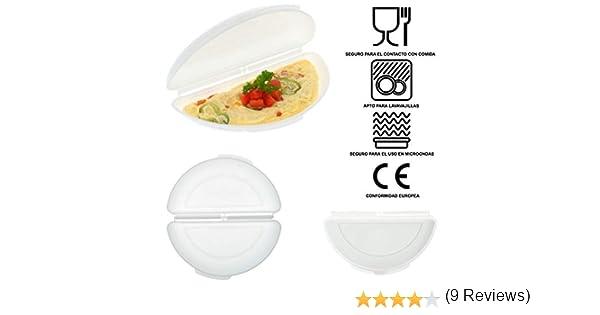 Recipiente Cuece Huevos Microondas | Alternativa al Sarten para Tortillas | Microwave Egg, Omelette Maker | Estuche Vapor Microondas, Ideal para ...