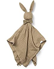 Elodie Details Gosdjur kanin för spädbarn blinkie snuffelduk av 100 % bomull – sandy, ljusbrun