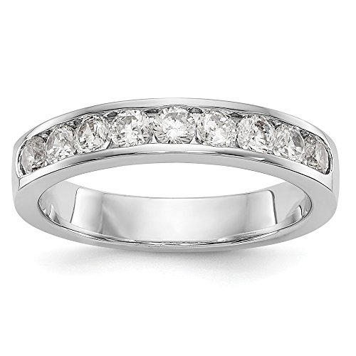Size 5.5 - Platinum AA Diamond Channel Wedding Band (4mm) (.711ct.) (Ring 4mm Platinum Channel Diamond)
