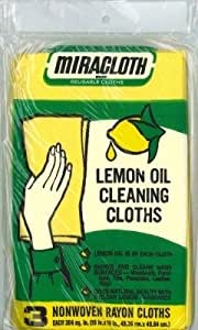 miracloth lemon oil cleaning cloths 3 count pack of 6 health personal care. Black Bedroom Furniture Sets. Home Design Ideas