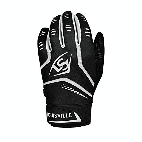 Louisville Slugger Omaha Adult Batting Gloves - Large, Black (Louisville Glove)