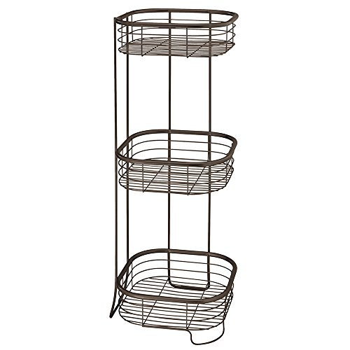 InterDesign Forma Free Standing Bathroom or Shower Storage Shelves for Towels, Soap, Shampoo, Lotion, Accessories - 3 Tier, Bronze by InterDesign