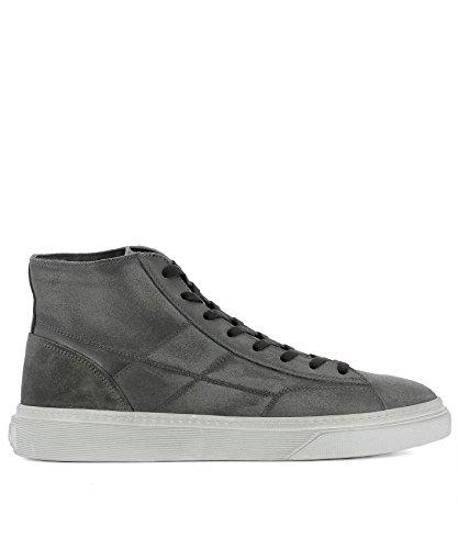 Hogan Men's Hxm3400j560htq297n Grey Leather Hi Top Sneakers