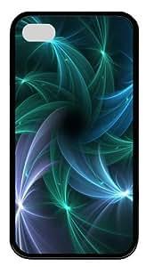 iPhone 4S Case Cover - Trippy Spirals TPU Silicone Case Cover for iPhone 4 and iPhone 4s - Black