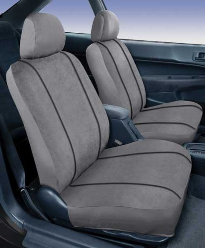 Saddleman Custom Made Front Bucket Seat Covers - MicroSuede Fabric (Gray)