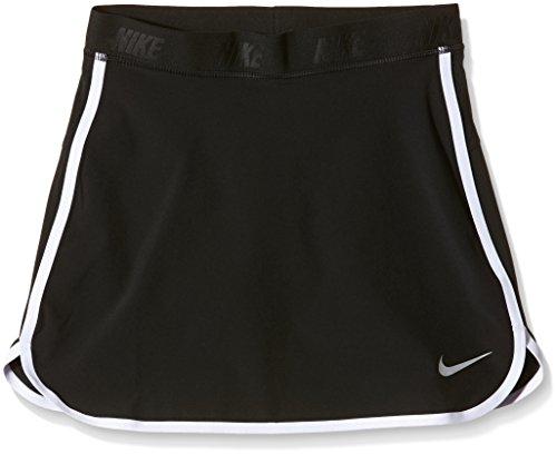 Nike Kids Girl's Golf Skort (Little Kids/Big Kids) Black/White/Metallic Silver LG (14 Big Kids)