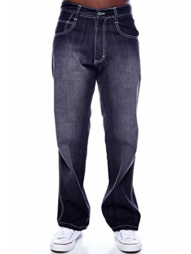 MEN'S SOUTHPOLE RELAXED FIT BASIC WASHED SANDBLAST JEANS 4180 (32/32, (Southpole Black Jeans)