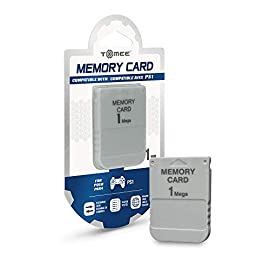 Tomee 1MB Memory Card for PS1 2 <p>Take your games further with the Tomee PS1 1MB Memory Card. Equipped with 15 blocks of memory, the Tomee PS1 1MB Memory Card can save or reload your PS1 game data. This memory card is compatible for the PS1 or the PS2 console to save PS1 games only. Don't play your PS1 game without it. 1MB memory block compatible with PSone/PS Work with PS2 for PS1 games</p>