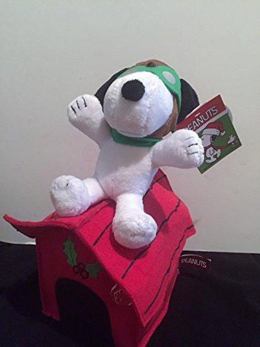 Animated Christmas Plush Snoopy Makes Airplane Sounds/Plays Music s