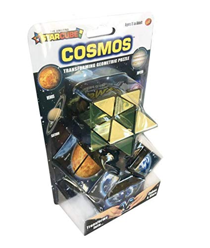 California Creations The Amazing Star Cube: 2 Piece Transforming Geometric Puzzle - Solve The Cube To Find The Hidden Star Cosmo Edition from California Creations