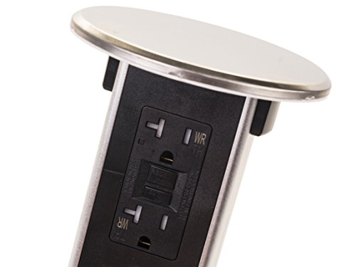 Lew Electric PUR20-S Round Countertop Pop Up 20 Amp Receptacles - Stainless Steel by Lew Electric (Image #4)