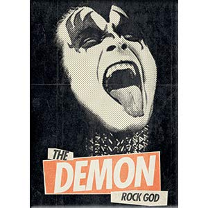 C&D Visionary KISS, Demon Rock God - Fridge Magnet, Officially Licensed Artwork, 2.5