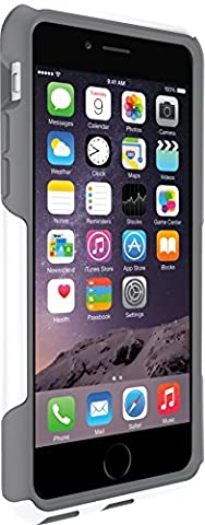 OtterBox COMMUTER SERIES Case for iPhone 6/6s - Frustration Free Packaging - GLACIER (WHITE/GUNMETAL (Apple Iphone 6 Case Otterbox Slim)