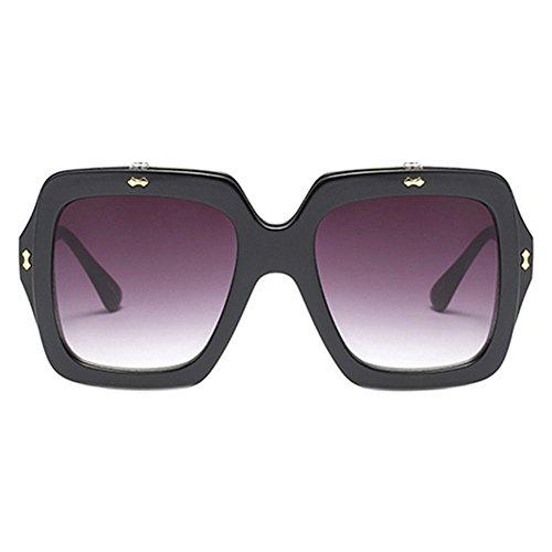4 Lunettes Square Color Flip Soleil Designer Protection Femmes 100 De Uv Meijunter Up oversized qO7BXwnwd