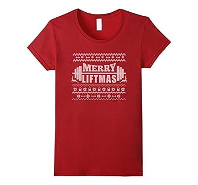 Merry Liftmas T-Shirt Funny Ugly Christmas Workout Tee