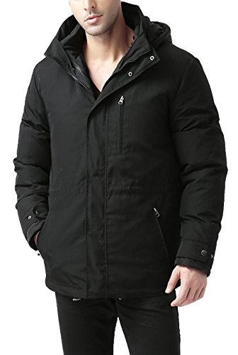 BGSD Men's James 3-in-1 Waterproof Down Parka Coat - XL Black