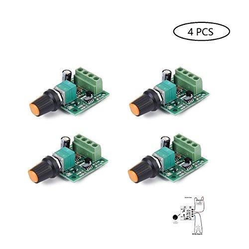 Motor Speed Controller PWM Low Voltage Dc 1.8v 3v 5v 6v 12v 2A 4pcs