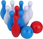 Clispeed 1 Set Kids Bowling Set with Pins and Ball Early Education Indoor Outdoor Games Great for Toddler Pres