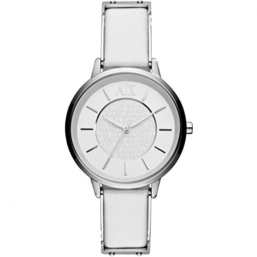 Armani Exchange White Dial White Leather Ladies Watch - Uk Exchange Armani