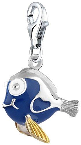 Nena Lina Charm poisson pendentif en argent 925sterling pour tous types porte-breloque 714111–001