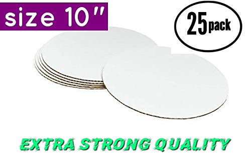 - Cake Pizza and Pie Board Circle Sturdy White Corrugated Cardboard, 100% Food Safe (10