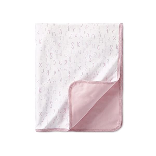 LAMAZE Organic Baby Baby Organic Essentials 2 Ply Blanket, Pink, One Size