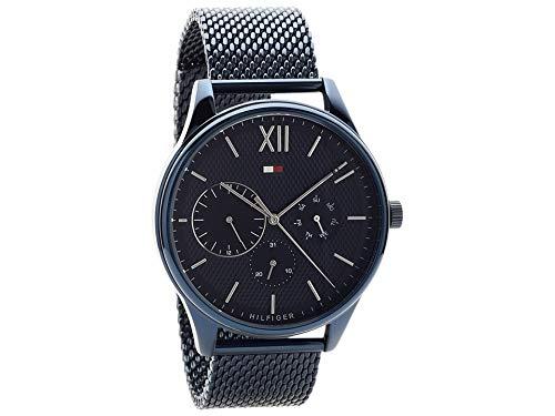 35a59942 Tommy Hilfiger Mens 1791421 Damon Blue Ion Plated Mesh Bracelet Wristwatch:  Amazon.co.uk: Watches