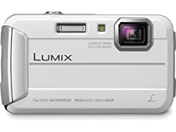 Panasonic Lumix DMC-TS25 16.1 MP Tough Digital Camera with 8x Intelligent Zoom (White) (Discontinued by Manufacturer)