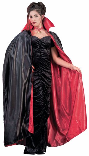 Full Length Adult Cape,Black / Red,One Size