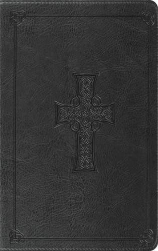 ESV Thinline Bible, TruTone, Charcoal, Celtic Cross Design,  Red Letter Text (Cross Esv Celtic Bible)