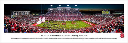 Nc Photo State - NC State Football - 50 Yard - Night - Blakeway Panoramas Unframed College Sports Posters