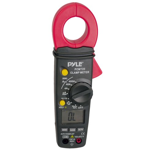 PYLE Meters PCMT20 Digital AC/DC Auto-Ranging Clamp Meter (Measures AC/DC Volts and AC Amps) by Pyle