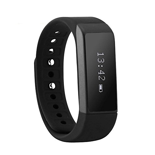 Fitness Smart Bracelet, CEStore® I5 Plus Bluetooth Wristband with Steps Distance /Calorie/ Sleep Record/ Remote Control Support APP Data Sync for IOS 7.0 Android 4.3 Above for Healthy Life-Black