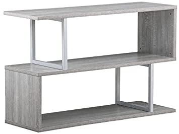 Etonnant Topeakmart 3 Tier Wood Narrow Hall Console Accent Table S Shaped Bookcase Display  Shelving Unit (
