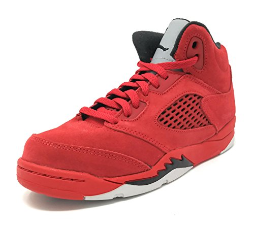 Jordan Retro 5'' Red Suede University Red/Black (Little Kid) (2 M US Little Kid) by NIKE