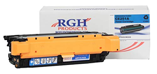 RGH Products(TM) Remanufactured ABTCE251A Cyan Toner Cartridge, for use in Lexmark C520n, C524, C524dn, C524dtn, C524n, C524tn, C530dn, C532dn. Replacement for C5222CS, C5220CS.