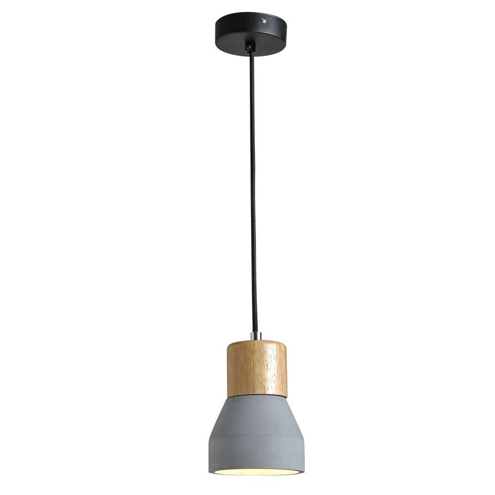 LED Lampe suspension 5W Luminaire Lustre E27 Plafonnier Lampe Ciment Blanc chaud pour salon Chambre Bureau Restaurant Caf/é Bar H/ôtel