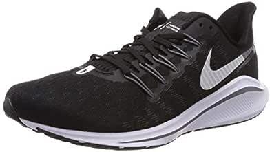 Nike Women's Air Zoom Vomero 14 Running Shoes, Black/White-Thunder Grey, 6 US